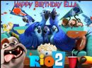 A4 Rio 2 Personalised Edible Icing or Wafer Birthday Cake Topper